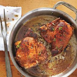 Andouille-Stuffed Pork Chops