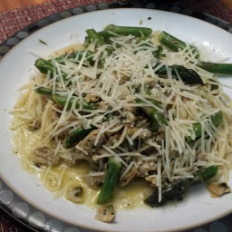 Angel Hair with Clams & Asparagus