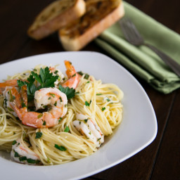 Angel Hair with Lemon Shrimp Scampi Recipe