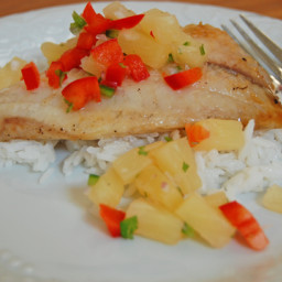 Tropical Tilapia with Coconut Salsa