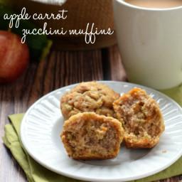 Apple Carrot Zucchini Muffins