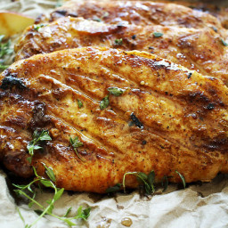 Apple Cider and Thyme Grilled Pork Chops