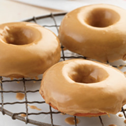 Apple Cider Baked Doughnuts with Maple Glaze