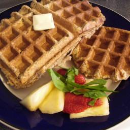 Apple Flax Waffles