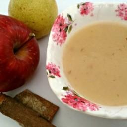Apple Pear Puree with Cinnamon twist