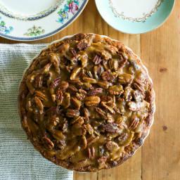 Apple-Pecan Bourbon-Caramel Pie