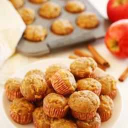 Apple Cinnamon Sweet Potato Mini Muffins