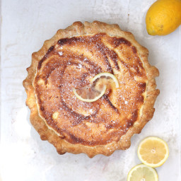 Apricot Lemon Sponge Pie
