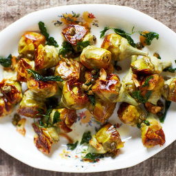 April Bloomfield's Pot-Roasted Artichokes With White Wine