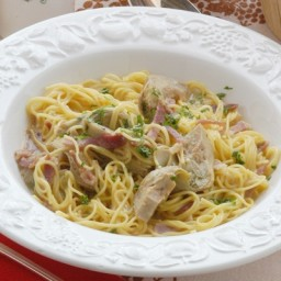 Artichoke Hearts and White Beans with Pasta