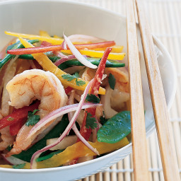 Asian Shrimp Salad with Snow Peas, Jicama and Bell Peppers
