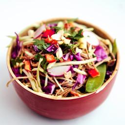 Asian Veggie Peanut Noodle Bowl