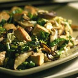 Asian Slaw with Tofu  and  Shiitake Mushrooms
