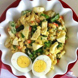 Asparagus and Chopped Egg Pasta Salad