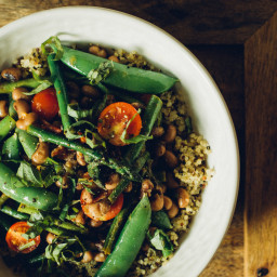 Asparagus and Snow Pea Salad with Black Eyed Peas