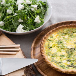 Recipes Course Asparagus and Leek Spring Quichewith Goat Cheese and ...