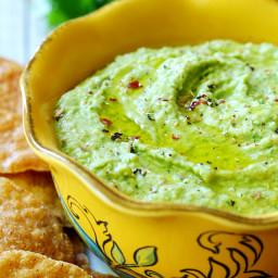 A Trader Joe's Copycat Recipe: Cilantro Jalapeno Hummus