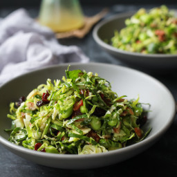 Autumn Kale and Brussel Sprout Salad