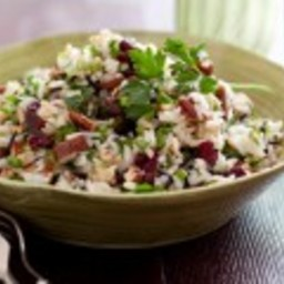 Autumn Rice Salad with Dried Fruit and Nuts