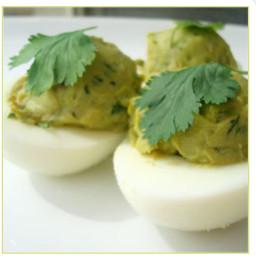 Avocado and Cilantro Deviled Eggs