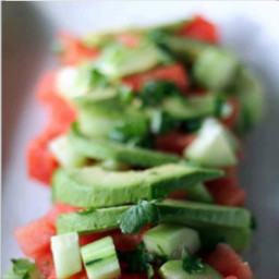 Avocado and Cucumber Salad