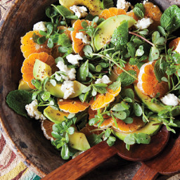 Avocado and Tangerine Salad with Jalepeno Vinaigrette