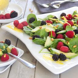 Avocado Berry Salad with Mango Vinaigrette