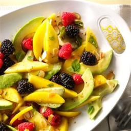 Avocado Fruit Salad with Tangerine Vinaigrette Recipe