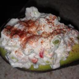 Avocado stuffed with Shrimp Salad