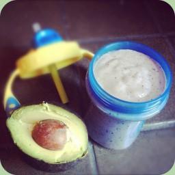 Avocado Blueberry Baby Smoothie