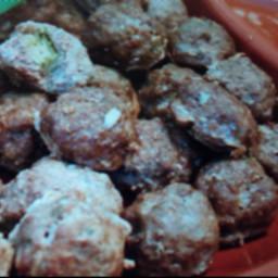 Avocado Stuffed Taco Meatballs