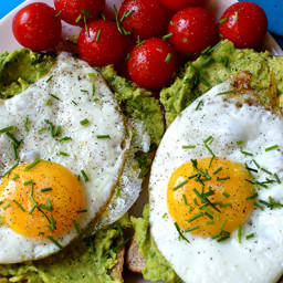 Avocado Toast on Whole Grain Bread with Egg