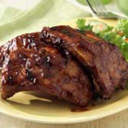 Baby Back Steam Grilled Barbecue Ribs