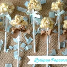 Baby Shower Lollipop Popcorn Balls