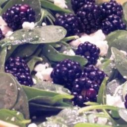 Baby Spinach Blackberries Salad