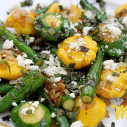 Baby Squash with Capers and Parsley