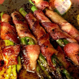Bacon asparagus wrap