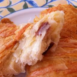 Bacon Gruyere Croissants