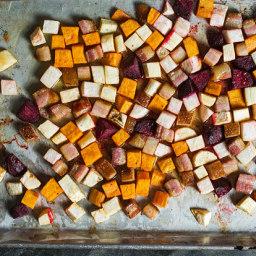 Bacon-Roasted Roots with Rosemary Honey