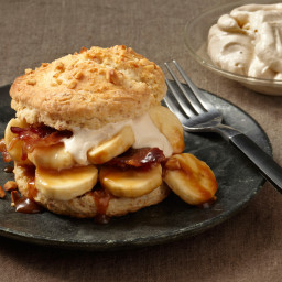 Bacon Shortcakes with Peanut Butter Whipped Cream