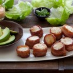 Bacon Wrapped Scallops with Spicy Mayo