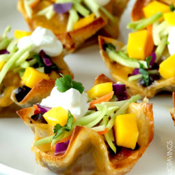 Baja Tuna Melt Cups with Mango Broccoli Slaw