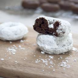 Baked Chocolate Einkorn Mini Doughnuts