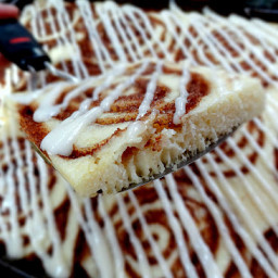 Big Red Kitchen Baked Cinnamon Roll Pancakes