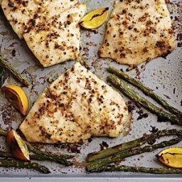 Baked Flounder with Fresh Lemon Pepper