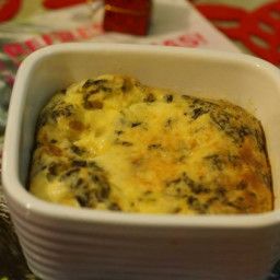 Baked frittata with potato and seaweed
