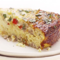 Baked Gruyere and Sausage Omelet
