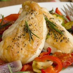 Baked Lemon Ratatouille with Chicken