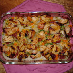 Baked Moroccan Chicken and Rice