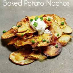 Baked Potato Chip Nachos